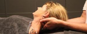 nel, schouder, rug massage