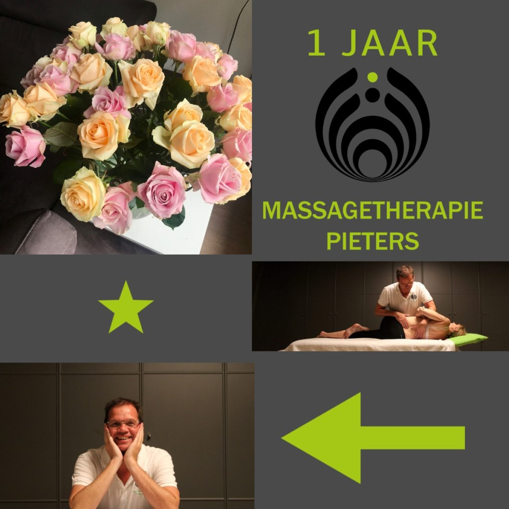 1 jaar massagetherapie pieters