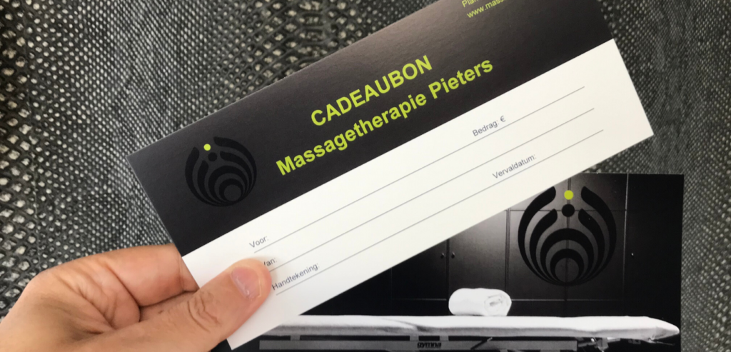 Cadeaubon Massagetherapie Pieters